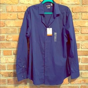 🎉HP🎉VanHeusen non-iron blue dress shirt size L